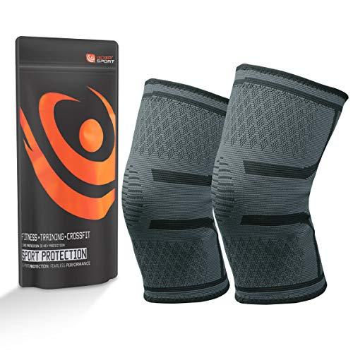 Etmury Kniebandage für Damen & Männer, Zum Schutz von Meniskus & Knie, Elastische atmungsaktiv Knieschoner mit Kompression für mehr Stabilität beim Sport und im Alltag, Knieschützer - 1 Paar