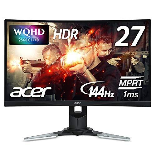 Acer ゲーミングモニター XZ271Ubmijpphzx 27インチ VA 非光沢 2560x1440 WQHD 250cd 1ms 144Hz HDR