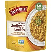 Tasty Bite Indian Entree Jodhpur Lentils 10 Ounce, Fully Cooked Indian Entrée with Yellow Lentils and Spices in a Tomato Sauce, Vegan, Gluten Free, Microwaveable, Ready to Eat