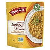 Tasty Bite Indian Entree Jodhpur Lentils 10 Ounce (Pack of 6), Fully Cooked Indian Entrée with...