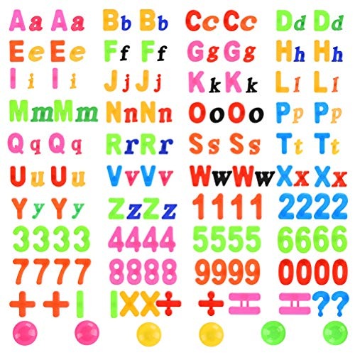 YOTINO 162 pcs Magnetische Buchstaben und Zahlen Set, Alphabet mit Tafel Magnete Nummer Spielzeug Lernspielzeug Fridge Stickers Geschenk Set für Kinder Geschenk