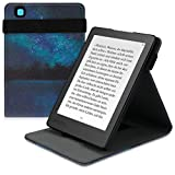 kwmobile Funda Compatible con Kobo Aura Edition 2 - Carcasa para e-Book de Cuero sintético - Cielo Estrellado Azul/Negro