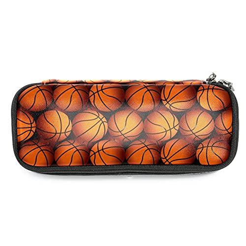Estuche plegable de gran capacidad lápiz bolsa grande lápiz bolsa de maquillaje para la escuela adolescente baloncesto textura