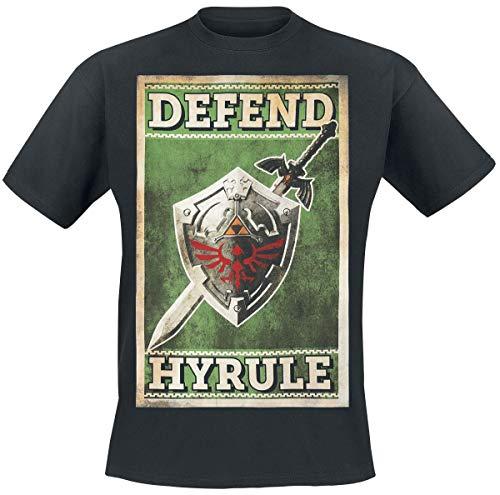 The Legend of Zelda Defend Hyrule T-Shirt schwarz XL