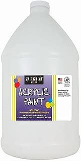 Sargent Art Half Gallon Acrylic Paint White, (64-Ounce, 1/2 Gallon) 22-2796