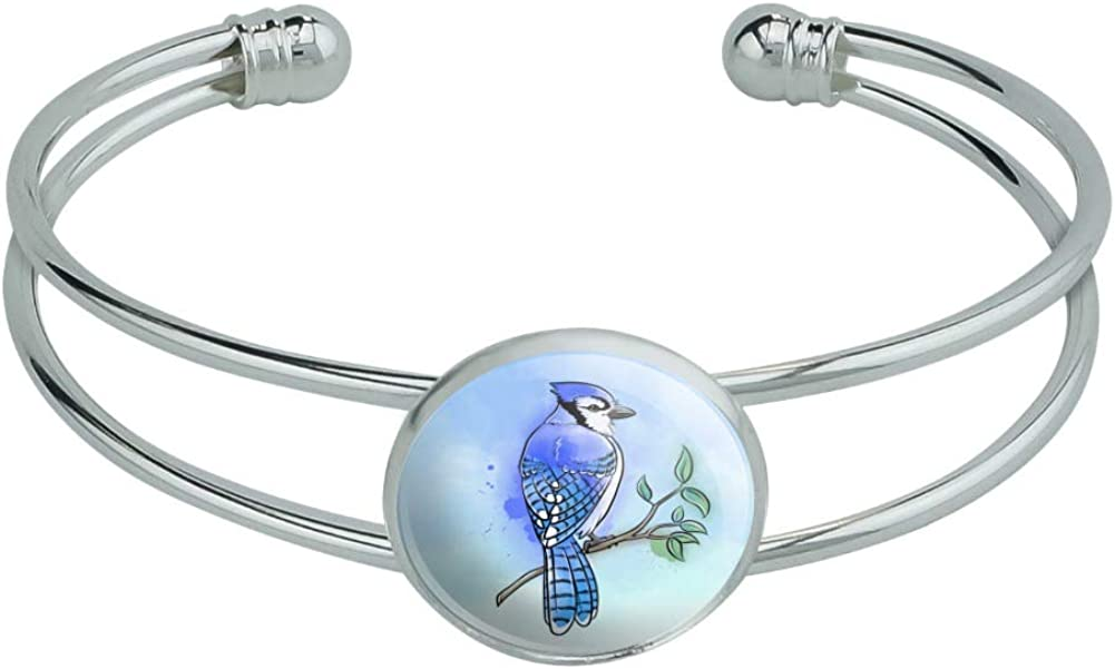 GRAPHICS MORE Blue Jay wholesale Watercolor Si Northeastern Bird Novelty 35% OFF