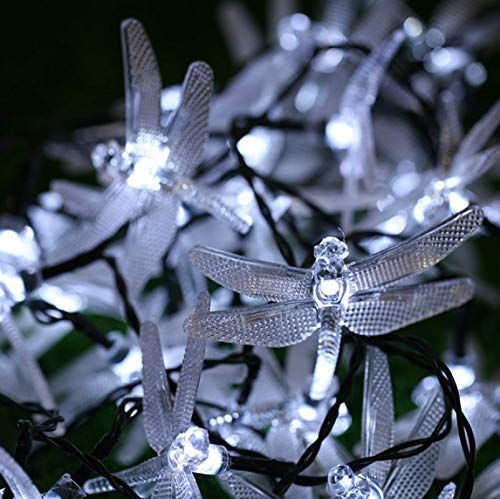 LED solar libélula cadena de luz abeja impermeable jardín decoración de jardín luz de Navidad cadena de luz blanca 100LED