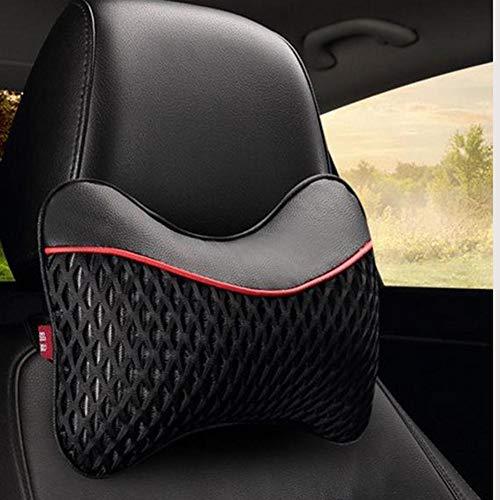 Almohada para el cuello del automóvil, 2 piezas de cuero, reposacabezas suave para el asiento del automóvil, reposacabezas para el cuello, adecuado para asientos de automóvil de viaje y uso doméstico
