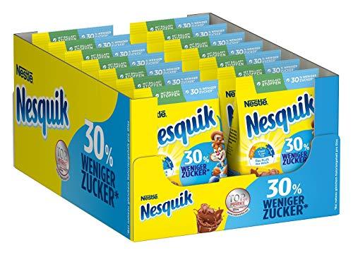 Nestlé NESQUIK, kakaohaltiges Getränkepulver, zuckerreduziertes Kakaogetränk, Kakaopulver mit Vitamin-Mix, Schoko-Fans Großpackung, 14er Pack (14 x 450g)