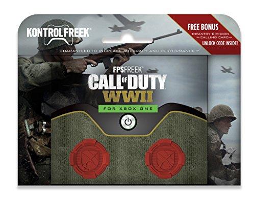 KontrolFreek FPS FREEK COD CALL OF DUTY WWII Thumb Stick Kappen fr XBOX ONE rot