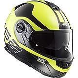LS2 NC Casco per Moto, Hombre, Negro/Amarillo, M