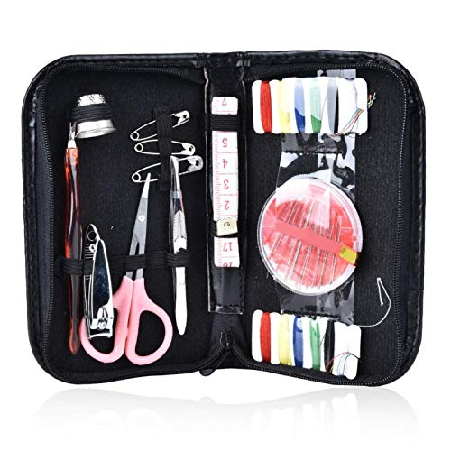Evonecy Kit de Costura Caja de Hilo, Agujas portátiles Caja de Hilo Caja de Kit de Costura, Kits de Agujas de Coser Kit de Suministros de Costura Durable para el hogar Camping DIY Viajes