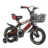 FUFU Niños Bici Bicicleta Niños 12/14/16/18 Pulgadas De Niños Y Niñas De Bicicletas, 2-13 Años De Edad con Ruedas Auxiliares, Rojo, Azul (Color : Red, Size : 18in)