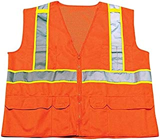 Ironwear 1277FR-OZ-03-LG ANSI Class 2 Flame Retardant Polyester Mesh Safety Vest with 2