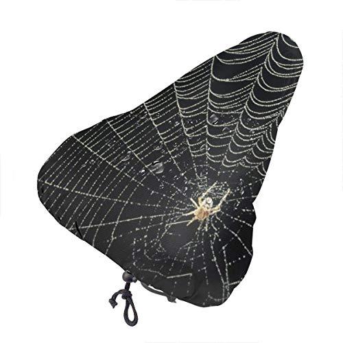Cubierta De Asiento De Bicicleta Spider Web Accesorio para Bicicleta, Funda para sillín de Bicicleta, Funda Confort, sillín de Gel Mejor para la Mayoría Monturas Universal