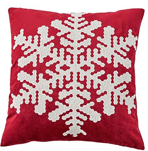 Almohada de Navidad,Almohada Throw Feliz Navidad (con la almohadilla central),árbol de Navidad de la guirnalda del copo de nieve patrón Cojín Fundas para al aire libre de Ministerio del Interior,E