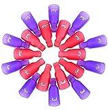CINEEN 20 Soin des Ongles Plastique Ongle Art Tremper le Capuchon Gel UV Outil Capuchon Plastique Pince à Ongles Outil Enlève Vernis