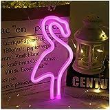 Flamingo Leuchtreklamen Neonlichter mit Halter Basis Dekor Licht, LED Flamingo Zeichen Dekor Licht, Festzelt Zeichen/Wand Dekor für Weihnachten, Geburtstagsfeier, Hochzeitsfeier Dekor(Rosa)