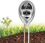 WubbaLubba Soil Moisture Meter, 3-in-1 Soil pH Meter with Plant Moisture, Light and pH Test, Soil Tester for Flower Pot, Courtyard, Garden, Farm, Lawn, Indoor & Outdoor(No Battery Needed)