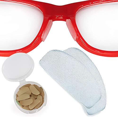 Setex Gecko Grip Anti-Slip Nose Pads for Eyeglasses, (Bulk Pack 15 Clear Pair) USA Made, Innovative Microstructured Fibers, 1mm x 7mm x 16mm