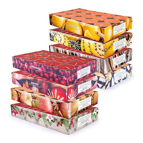 pajoma Duft Teelichte Duftkerzen weihnachtliche Düfte, 8X 30 Teelichte