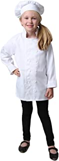 Kids Chef Costume Separates - Jacket & Hat or Pants (Choose Style and Size)