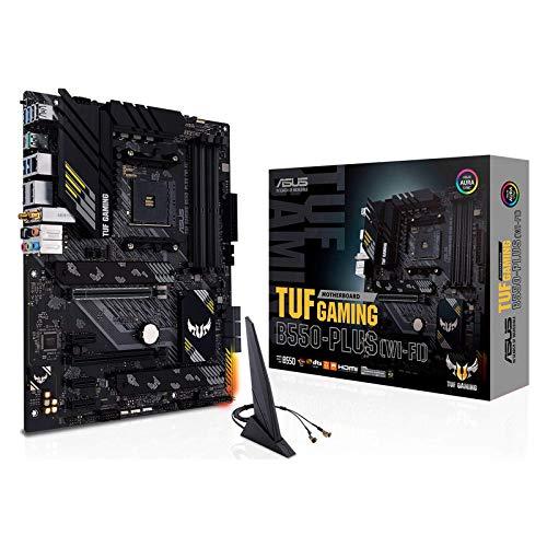 ASUS TUF Gaming B550-PLUS (WI-FI) Gaming Motherboard AMD B550 (Ryzen AM4) PCIe 4.0 M.2 10 Leistungsstufen Intel WiFi 6 LAN 2,5 GB HDMI, DP, USB 3.2 Gen2 TypeA und TypeA C, RGB Aura Sync