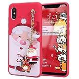 Yoedge Coque pour Xiaomi Redmi Note 9 5G / Note 9T 6,53', Cadeau de Noël Etui en Silicone Rouge...