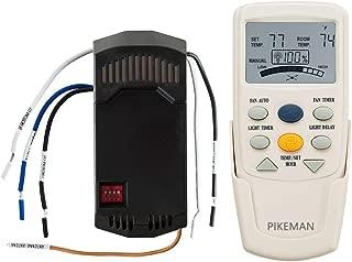 Universal Ceiling Fan Remote Control and Receiver Complete Kit Replace Hampton Bay Thermostatic LCD W Fan Timer FAN-9T L3HFAN9T FAN-28R -Pikeman