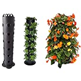 Flower Tower Freestanding Planter, Outdoor Plant Tower Vertical Standing Planter with Drainage Hole, Garden Trellis Plant Flower Pot for Climbing Vines Flowers Stands Home Decor