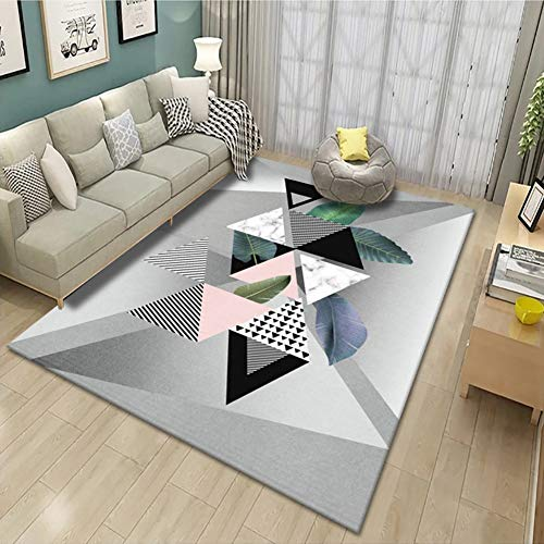 Rectangle Geometric Area Rug, Soft and Comfy Carpet Suitable for Living Room,Bedroom, Dining Room and Nursery Rugs (Color : A, Size : 2.6'x3.9')