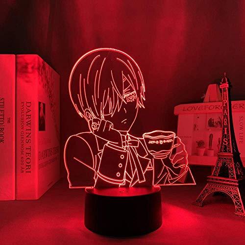 Lámpara acrílica 3D anime mayordomo negro para decoración de dormitorio luz nocturna niños cumpleaños presente habitación escritorio luz LED manga negro mayordomo