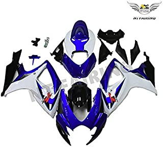 NT FAIRING White Blue Injection Mold Fairing kits Fit for Suzuki 2006 2007 GSXR 600 750 K6 GSX-R600 Aftermarket Painted ABS Plastic Motorcycle Bodywork