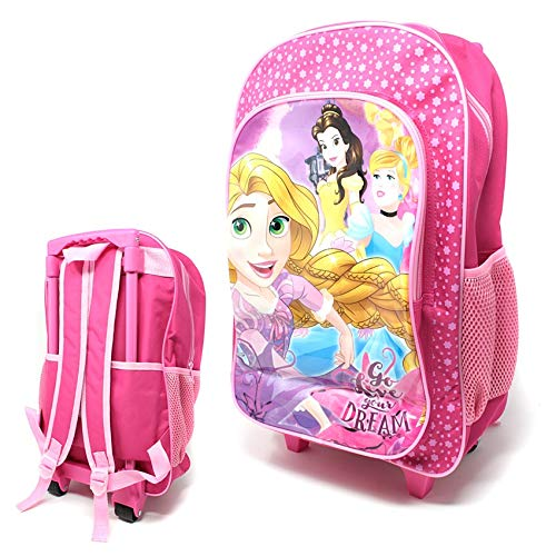 Disney Princess Children's Character Luggage Deluxe Wheeled Trolley Backpack Suitcase Cabin Bag School