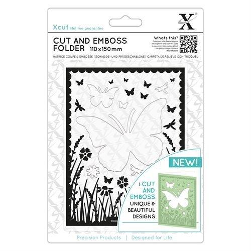 Xcut Cut & Emboss Scrapbook Paper Craft Folder (110x150mm) - Butterfly Aperture