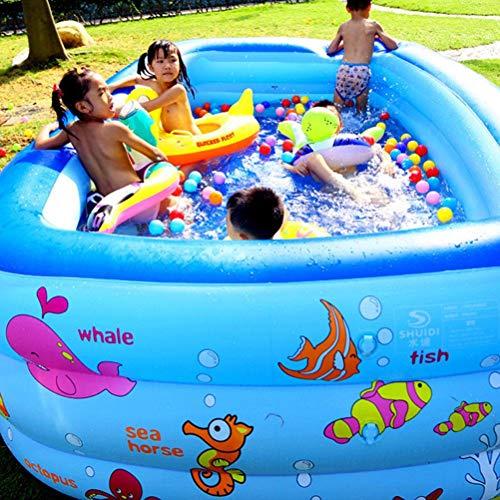 Kinder verdickte aufblasbarer Swimmingpool, Familie Spielen Pool, beweglicher Baby-Badeeimer, Groß-Platz Spielen Spielzeug, aufblasbare Badewanne, Wasser Unterhaltung,210cm