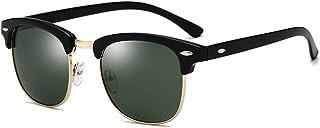 Męskie półoprawki polaryzacyjne bez ramki, ochrona UV400 okulary przeciwsłoneczne lustrzane okulary przeciwsłoneczne z etu...