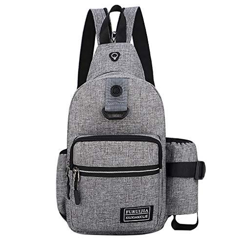 Brusttasche für Herren/Skxinn Umhängetasche Schultertasche Cross Bag Schleuder Tasche Sling Rucksack Multipurpose Daypack,Outdoor Sport Running Casual...