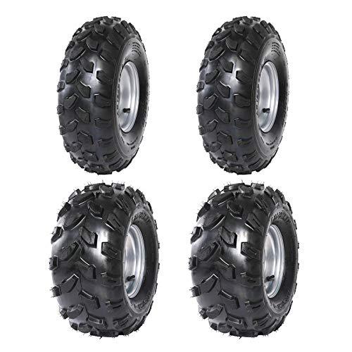 WPHMOTO 2Pcs 19x7-8 Front and 2Pcs 18X9.5-8 Rear Tubeless Wheel Tire With Rim for ATV Go Kart Quad Bike 4 Wheelers