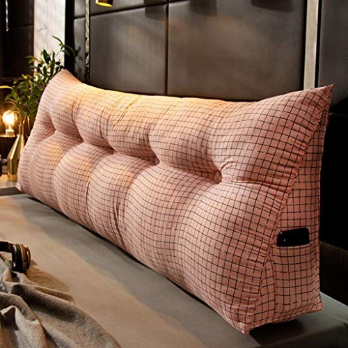 SPFOZ - Almohada de lectura para sofá cama, cojín triangular grande, soporte de posicionamiento, soporte para cabecera, respaldo de cama con funda extraíble (color: G, tamaño: 100 x 23 x 50 cm)