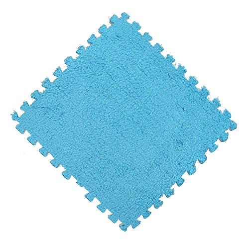 Alfombra de juegos de Transwen, 25 x 25 cm, de espuma, puzzle, para niños, alfombra de juegos de colores