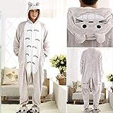 AYJMA Traje de Pijama de Animales Adultos, Ropa de Dormir de Punto Suave y cálido, Mono de Invierno, Pijama Cosplay M (Altura 158-168 CM) Totoro