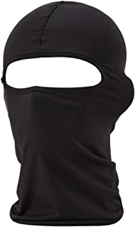 Raisun Black Balaclava, Full Face Mask Neck Gaiter, Tactical Scarf Mouth Cover, Summer Cooling UV Protector, Neck Warmer Headband Winter Windproof for Outdoor Sports for Men/Women