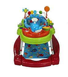 Action packed 4 in 1 activity play centre With choice of walker or static rocker function Features push along handle to aid baby's first steps Includes detachable whale toy for extra fun Stop n go base for extra safety