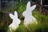 8 seasons design| Große Dekofigur Hase beleuchtet Shining Rabbit (E27, 70 cm groß, Hasenlampe, UV- & frostbeständig, Deko für drinnen & draußen) weiß - 5