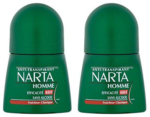 Narta Deodorant Homme Bille Anti-Transpirant Classique Effizienz 48 h, 50 ml, 2 Stück