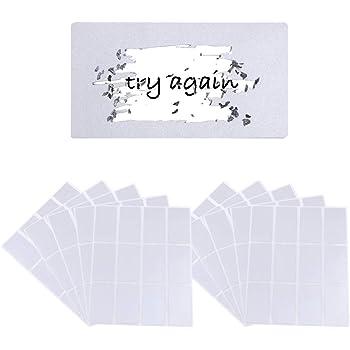 VINFUTUR 8 Fogli 120 pz Gratta e Vinci Adesivo Etichette Scratch Sticker per Regalo Biglietto Fai da Te Laser-Diamante