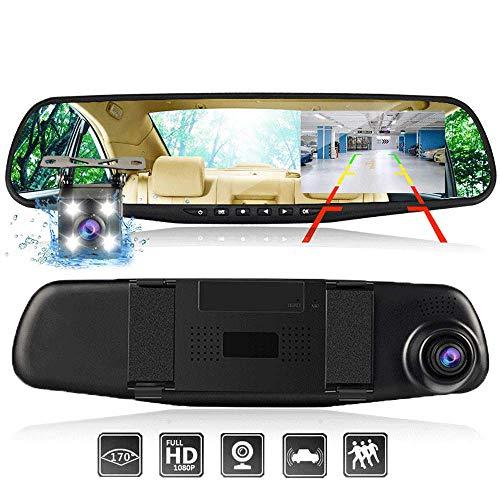 Rückspiegel Fahrschreiber 4,3 Zoll Full-HD-Bildschirm Auto 1080p Auflösung Dual-Kamera Parküberwachung 32 GB
