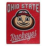 The Northwest Company NCAA Ohio State Buckeyes Unisex Alumniraschel Blanket, Team Colors, 50x60 Inches