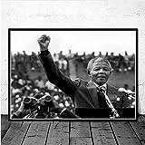 mohanshop Poster Druckt Nelson Mandela Great Leader Star